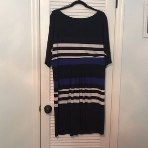 Dresses & Skirts - Striped Dress with 3/4 sleeves